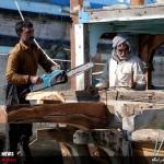 کارگاههای تعمیر لنجهای باری و تجاری در بندرکنگ + تصاویر