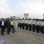 برگزاری صبحگاه مشترک نیروهای انتظامی و نظامی بندرلنگه + تصاویر