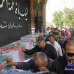 تشییع پیکر پاک ۱۰ شهید گمنام با استقبال پرشور مردم در بندرکنگ