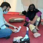 اعزام پزشکان متخصص وکارشناسان بهداشتی قرارگاه جهادی درمان شفا به روستاهای زلزله زده بندرلنگه